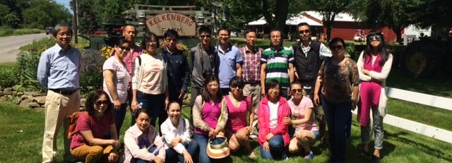 Visiting Scholars Jiaxing University: Kelkenburg Farms