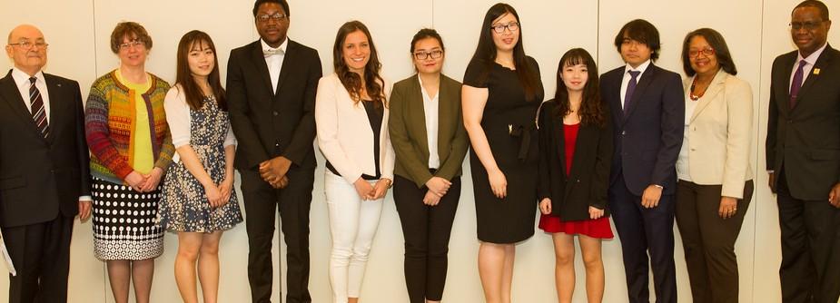 International Student Scholarship Winners