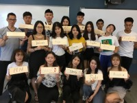 ESL students with their Americanized names